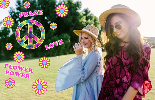 60's hippie style clothing