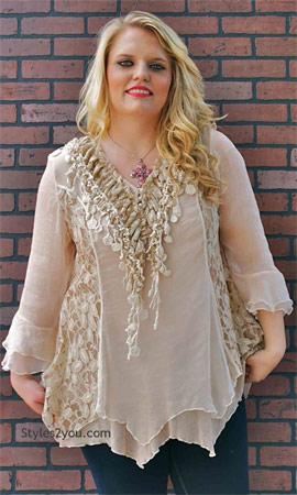 Montabella victorian blouse caramel