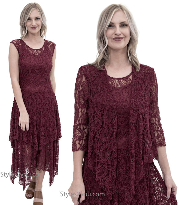 Abigail layered lace dress