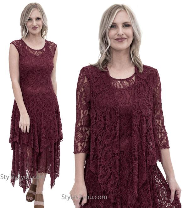 Abigail layered lace dress