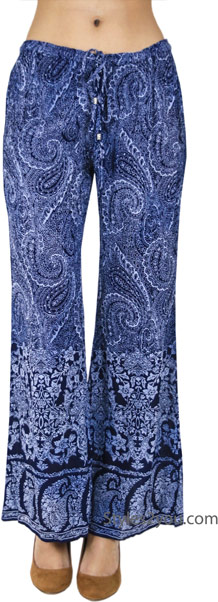 bell-bottomed paisley pants