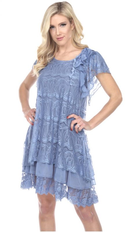 Englewood Layered Dress in Blue
