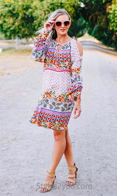 flirty summer dress by easel clothing