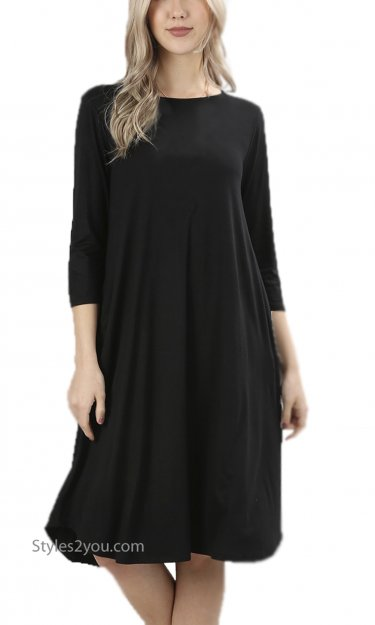 Madison PLUS SIZE Dress in Black
